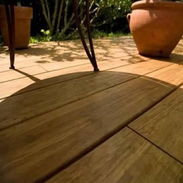 """Bambus-Terrassendielen """"Cobam"""" 2200 x 140 x 20 mm oberfläche glatt vorgeölt"""
