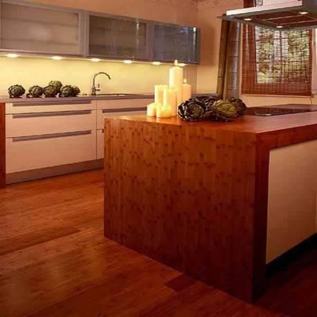 Küchen Design Block mit Bambusplatten
