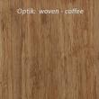 Optik der 1-schichtplatte woven in der farbe coffee 4 mm