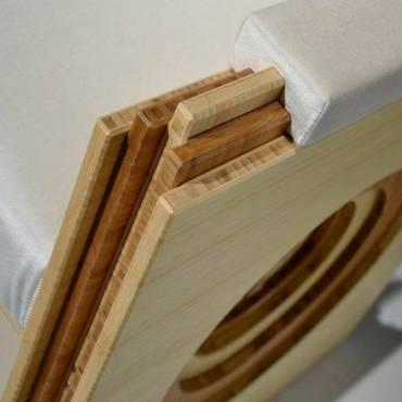 3-schicht massivplatten variationen als Stuhl verarbeitet
