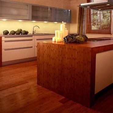 Küchen design mit Bambus design platten