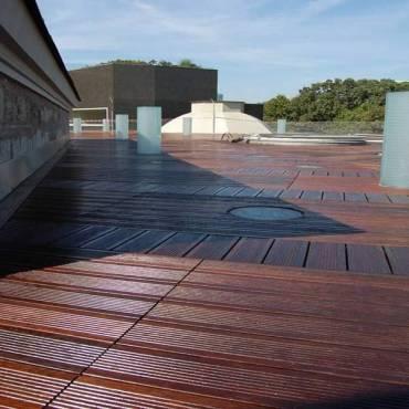 """Bambus-Terrassendielen """"Cobam"""" 1850 x 155 /137 x 20 mm geölt"""