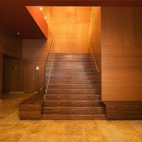Treppenstufen Verkleidung mit 4 mm woven platte