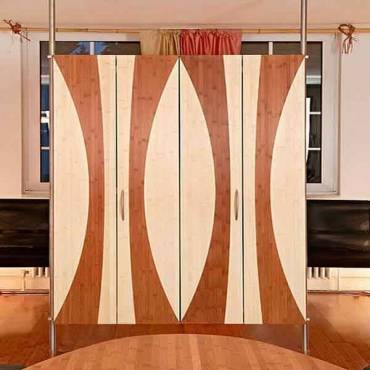 Design Raumteiler aus 3-schicht bambus platten 16 mm