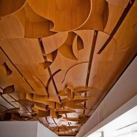 """Decken-Design 3-S Bambus Platte """"Guangzhou"""" 7 mm vertikal coffee"""