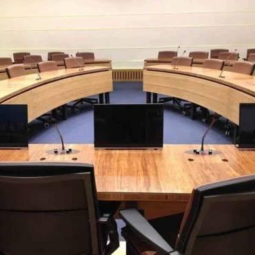 Konferenz Raum mit 5 Schicht Arbeitsplatte Woven ANHUI 38 mm